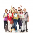 Stock Photo: Group of smiling teenagers staying together