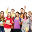 Group of smiling teenagers staying together — Stock Photo #15381483