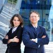 Royalty-Free Stock Photo: Successful business man and business woman