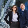 Successful business man and business woman — Foto de Stock