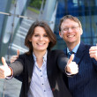 Successful business man and business woman  — Stock Photo