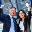 Successful business man and business woman — Stock Photo #15382541