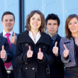 Business team in the street — Stock Photo #15389411