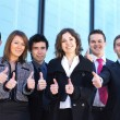 Business team in the street — Stock Photo #15389495