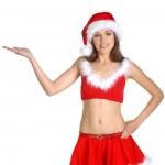 Attractive female Santa — Stock Photo #15389809