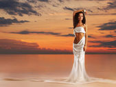 Aphrodite in a light of sunset — 图库照片