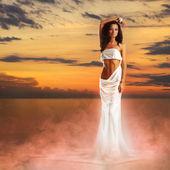 阿芙罗狄蒂在光的日落 — 图库照片