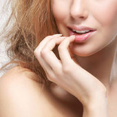 Beauty portrait of young attractive woman — Stock Photo