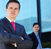 Business team in the street — Stock Photo