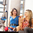 Group of young and sexy smoking hookah in the lounge caffee — Stock fotografie