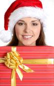 Attractive female Santa — Stock Photo