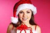 Young sexy Santa — Stock Photo