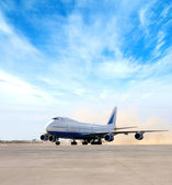 Giant plane in airport — Stock Photo