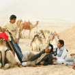 African children in Sahara desert — Stock Photo