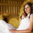 Royalty-Free Stock Photo: Young and beautiful woman in country style