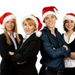 Young attractive business in Christmas style - Stock Photo