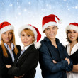Young attractive business in Christmas style — Stock fotografie #15436431
