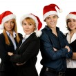 Young attractive business in Christmas style — Stock Photo #15436433