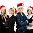 Young attractive business in Christmas style — ストック写真