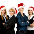 Foto de Stock  : Young attractive business in Christmas style
