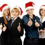 年轻有吸引力的商业中的圣诞风格 — 图库照片