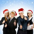 Young attractive business in Christmas style — Stock Photo