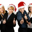 Young attractive business in Christmas style — Stock Photo #15436465