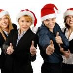 Noel tarzı genç çekici iş — Stok fotoğraf
