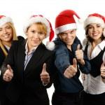 mladá atraktivní obchod ve stylu vánoční — Stock fotografie