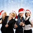 Photo: Young attractive business in Christmas style