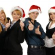 Young attractive business in Christmas style — Stock Photo #15436483