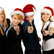 Royalty-Free Stock Photo: Young attractive business in Christmas style