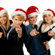 Young attractive business in Christmas style — Stock fotografie #15436497