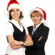 Young attractive business women in Christmas style — Stock Photo #15436503