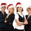 Stock Photo: Young attractive business in Christmas style
