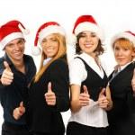 mladá atraktivní obchod ve stylu vánoční — Stock fotografie #15436519