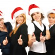 Young attractive business in Christmas style — Stockfoto