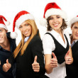 Stockfoto: Young attractive business in Christmas style