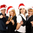 Young attractive business in Christmas style — Stock fotografie