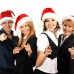 młody atrakcyjny biznes w Boże Narodzenie styl — Zdjęcie stockowe #15436539
