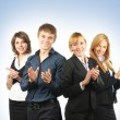 Group of young business - Stock Photo
