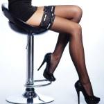 Beautiful legs in nice stockings — Stock Photo