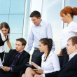 Business group of many different in office at work — Stock Photo #15437041