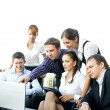 Young business in office — Stock Photo #15437353