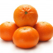 Oranges isolated on white — Stock Photo