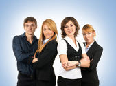 Group of young business — Stock Photo