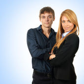 Group of young business couple — Stock Photo