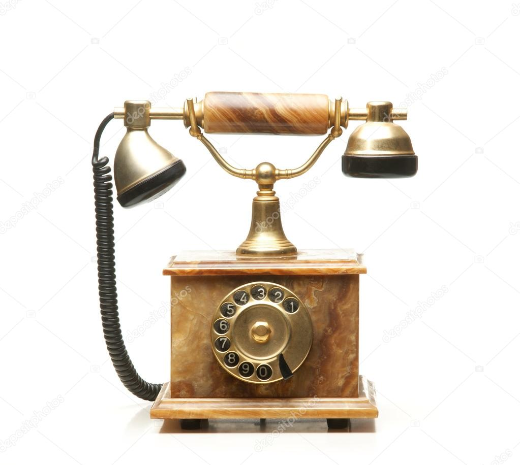 Vintage telephone isolated on white — Stock Photo #15437425