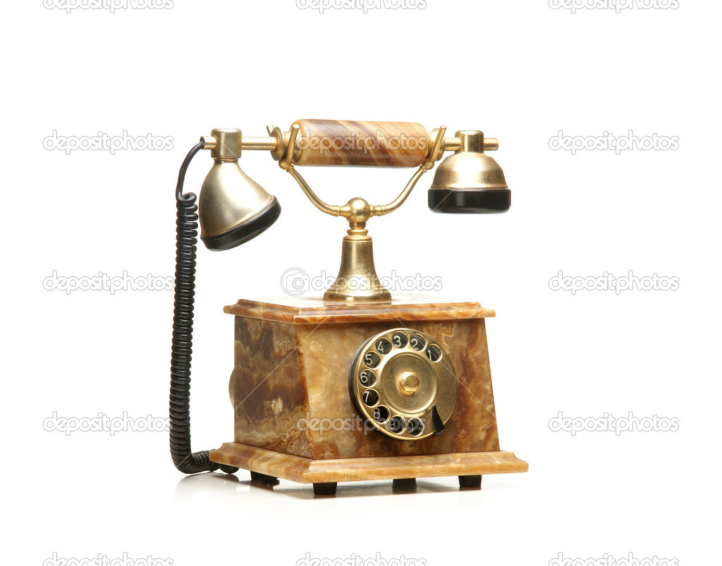 Vintage telephone isolated on white — Stock Photo #15437427