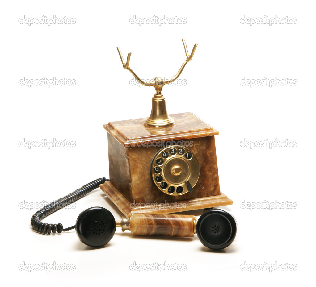 Vintage telephone isolated on white — Stock Photo #15437429